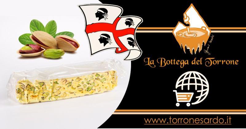 La Bottega del Torrone shop online - offerta torrone sardo al pistacchio 200 gr