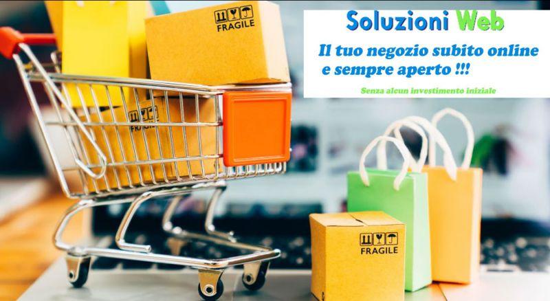 Soluzioni Web  - Offerta aprire negozio online – promozione creare sito ecommerce