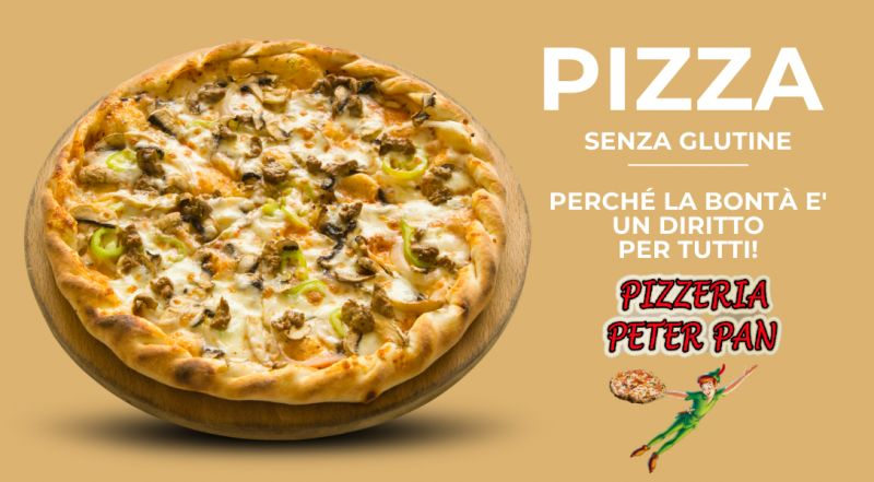 Offerta pizzeria con pizze senza glutine a Novara a Vercelli – occasione pizzeria Peter Pan a Novara a Vercelli