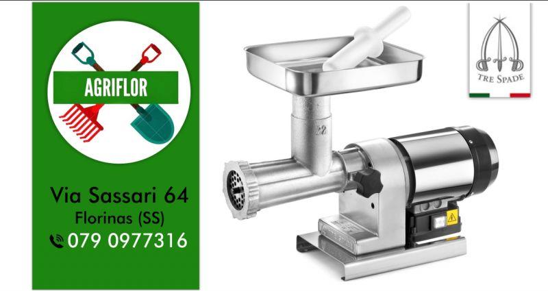AGRIFLOR - offerta tritacarne Tre Spade elettrico in acciaio inox
