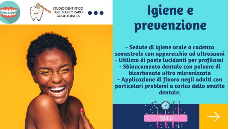 Occasione Sedute di igiene orale a Pordenone – offerta Sbiancamento dentale con polvere di bicarbonato ultra micronizzata dentista a Pordenone