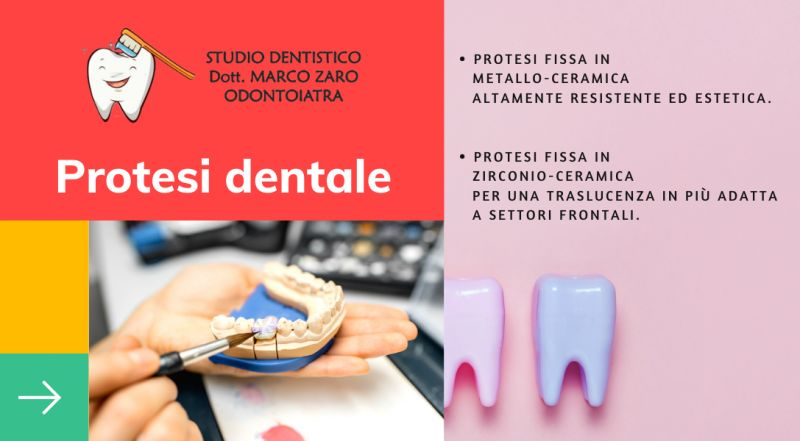 Offerta Protesi fissa in metallo dentista a Pordenone – occasione Protesi fissa in zirconio odontoiatra a Pordenone
