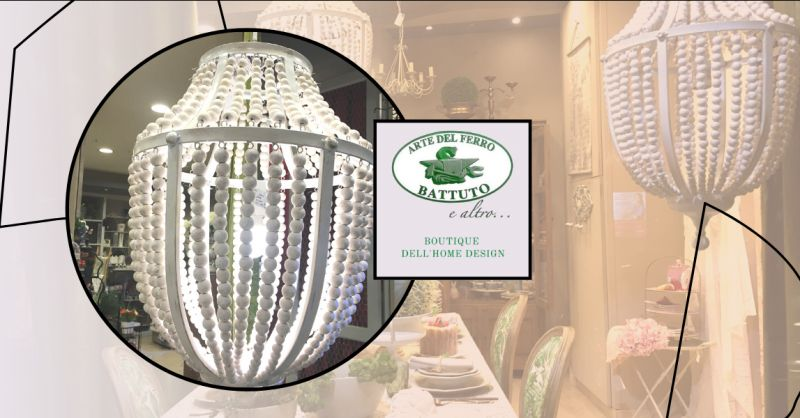 offerta lampadario shabby chic bianco Catania - occasione lampadario elegante bianco Catania