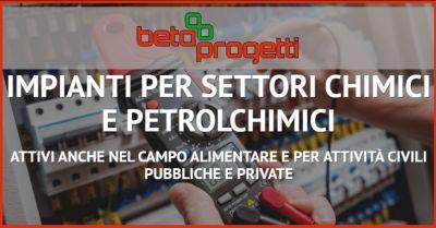 beta progetti occasione impianti per settori chimici e petrolchimici