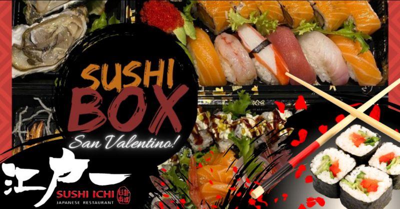 SUSHI ICHI offerta box cibo giapponese riposto - occasione idee cena di san valentino catania