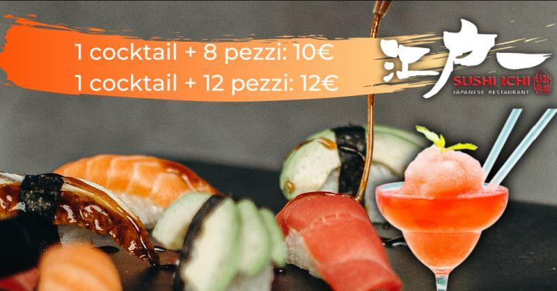 SUSHI ICHI Offerta aperitivo con sushi Catania - promozione aperisushi Riposto