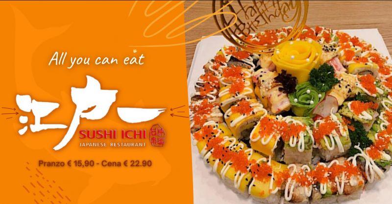 SUSHI ICHI Offerta all you can eat Catania pranzo - promozione cena all you can eat Riposto