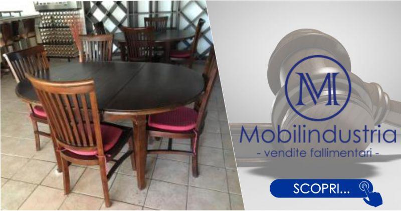 MOBILINDUSTRIA SRL - offerta tavolo in legno rotondo allungabile con 4 sedie
