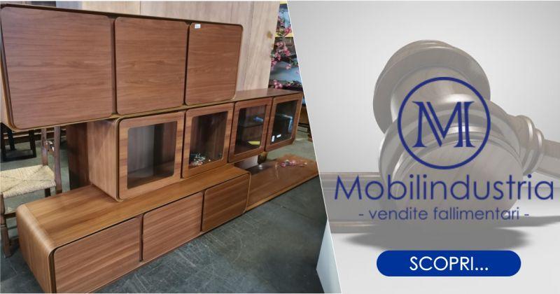 MOBILINDUSTRIA SRL - offerta parete soggiorno sospesa in legno