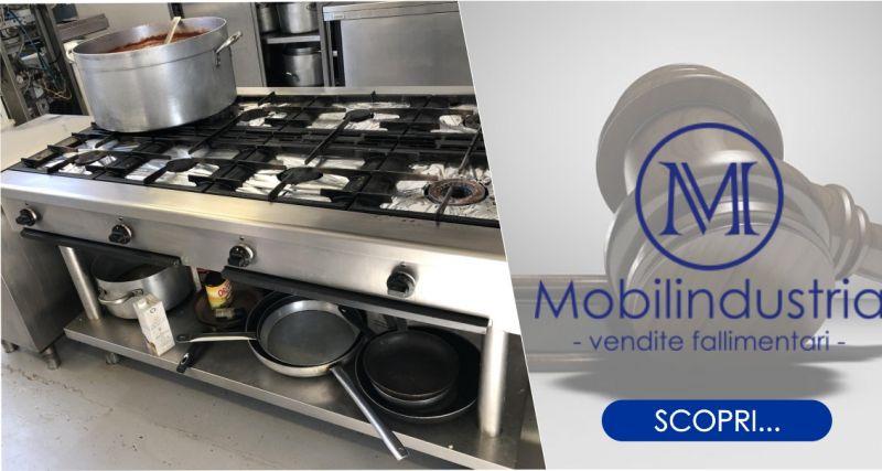 MOBILINDUSTRIA SRL - offerta cucina a gas  professionale 8 fuochi marca Zanussi