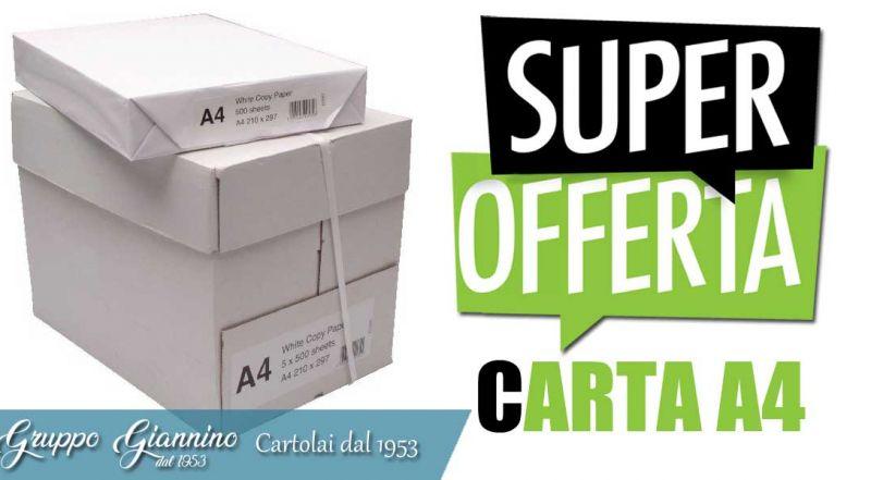 Gruppo Giannino - offerta risme di carta A4 per ufficio e scuola cosenza