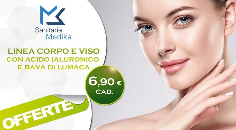 Sanitaria Medika - promozione linea viso con acido ialuronico e bava di lumaca bari