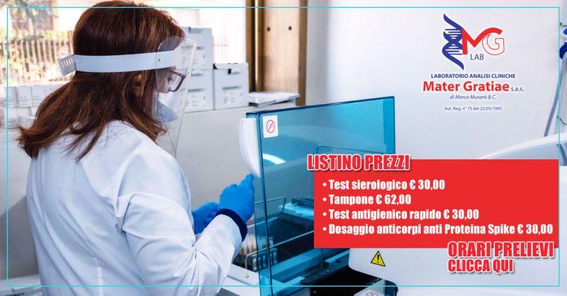 Laboratorio Mater Gratiae - offerta tampone rino-faringeo e test sierologico covid lecce - occasione tampone rino-faringeo e test sierologico covid brindisi