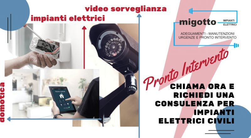Occasione pronto intervento guasti elettrici  a Udine – Offerta installazione domotica videosorveglianza a Udine
