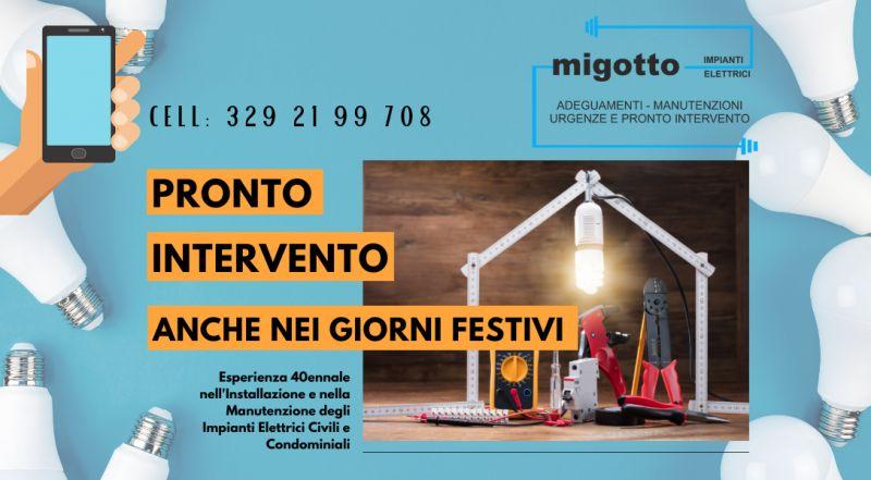Occasione installazione di impianti elettrici in condomini a Udine – offerta elettricista pronto intervento nei giorni festivi a Udine