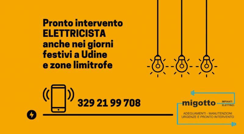 Occasione elettricista reperibile nei festivi a Udine – offerta pronto intervento elettricista a udine