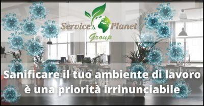 offerta sanificazione ambienti di lavoro e domestici pisa service planet group