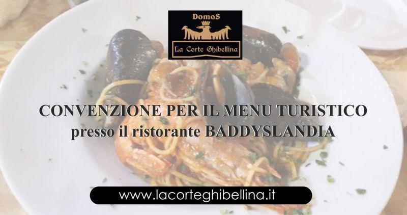 DOMOS LA CORTE GHIBELLINA Iglesias - offerta convenzione menu turistico ristorante Baddyslandia