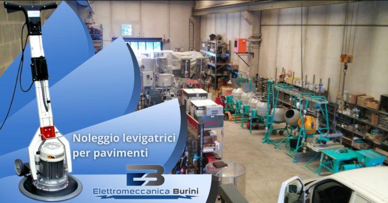 ELETTROMECCANICA BURINI - Offerta levigatrice per pavimenti a noleggio Bergamo