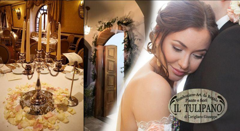 Offerta allestimento floreali per matrimoni - promozione realizzazione addobbi floreali per compleanni