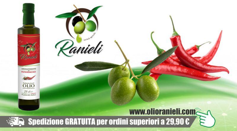 Azienda Agricola Fratelli Ranieli - promozione olio extravergine oliva al peperoncino vibo valentia - promozione vendita online olio oliva al peperoncino