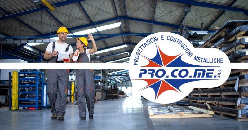 PRO.CO.ME - offerta realizzazione capannoni industriali in ferro Sardegna
