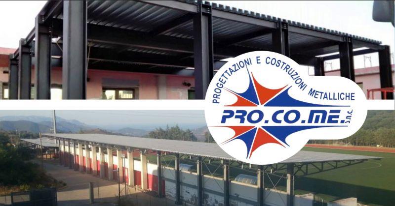 PRO.CO.ME - offerta realizzazione pensiline metalliche a sbalzo Sardegna
