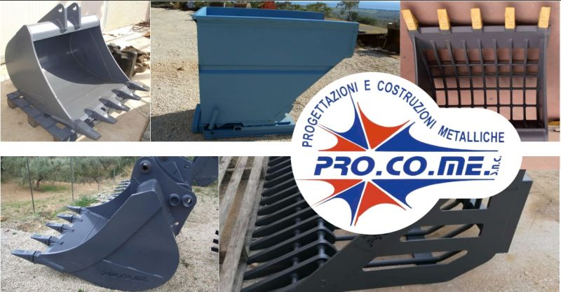 PRO.CO.ME - offerta costruzione benne per escavatori Sardegna