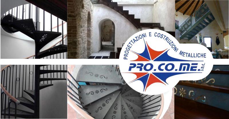 PRO.CO.ME - offerta realizzazione scale in ferro per interni e esterni Sardegna
