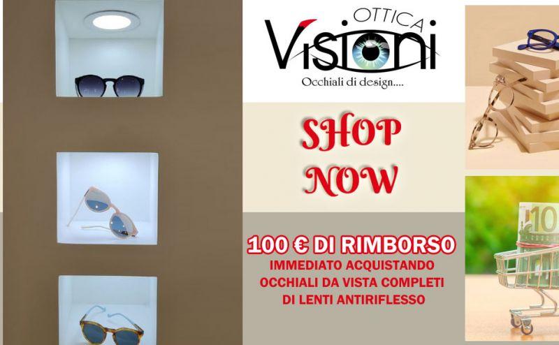 Ottica Visioni - offerta rimborso su occhiali da vista rende - promozione occhiali da vista con lenti antiriflesso rende