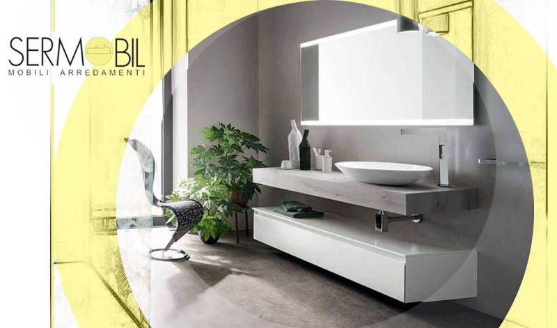 Offerta Arredo Bagno Moderno laccato lucido Bergamo - Occasione mobili bagno sospesi stile moderno Bergamo