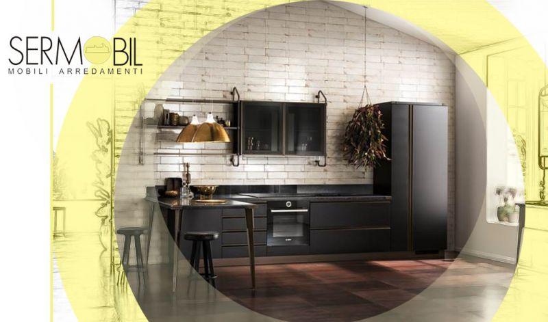Offerta Vendita  Cucina lineare con zona lavaggio separata Bergamo - Offerta Scavolini modelli di cucine in linea Bergamo