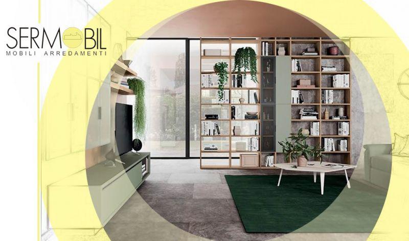 Offerta Libreria Divisoria in stile Moderno Bergamo - Occasione Librerie bifacciali separa ambienti Bergamo