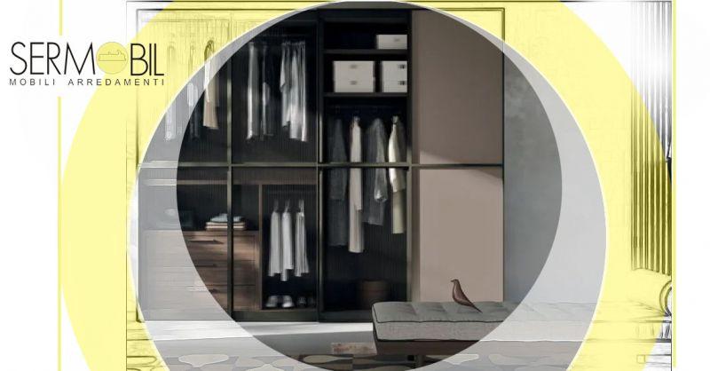 Occasione Armadio Scorrevole con ante in vetro - Occasione Armadi Scorrevoli Componibili in vetro Bergamo