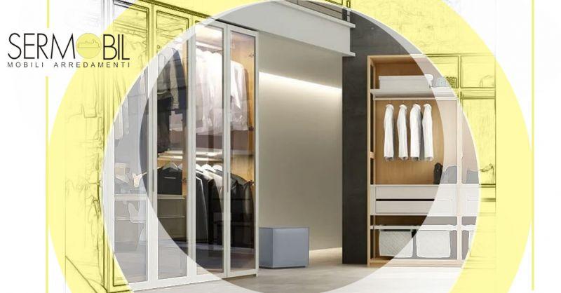 Offerta Cabina armadio in legno laccato Bergamo - Occasione Cabina Armadio con ante scorrevoli e vetro Bergamo