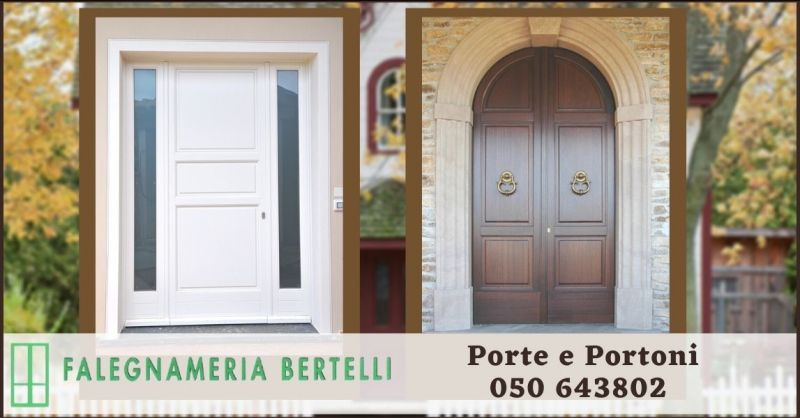 occasione porte interne in legno artigianale Pisa - promozioni portoncini e portoni Pisa