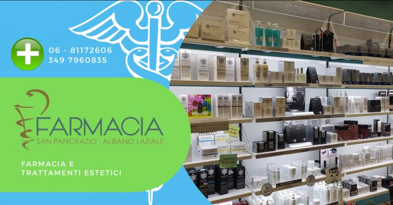 offerta farmacia Albano Laziale - occasione farmacia trattamenti estetici Roma