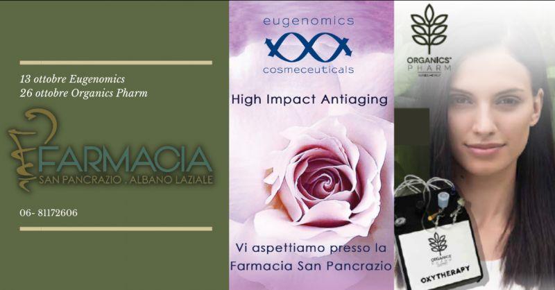 Offerta prodotti antiaging Eugenomics Albano Laziale - occasione prodotti Organics Pharm Roma