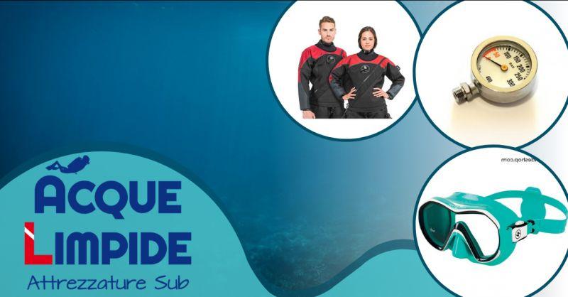 ACQUELIMPIDE offerta negozio subacquea Catania - occasione negozio sub Messina
