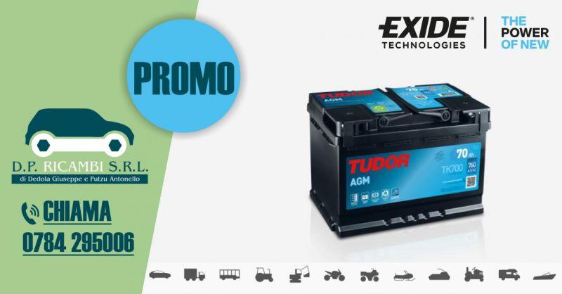 DP RICAMBI - promozione batterie Tudor