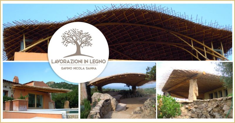 LAVORAZIONI IN LEGNO di Gavino Sanna - offerta pergole e porticati in legno di castagno su misura