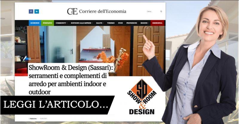 articolo corriere dell economia Showroom&Design - offerta infissi