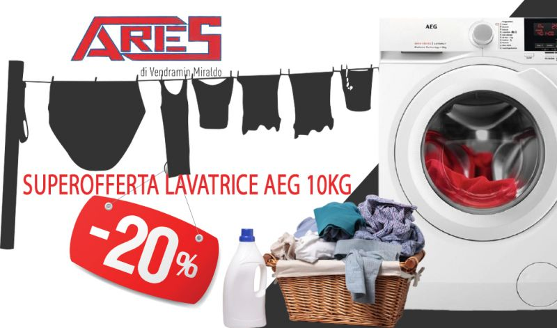 Offerta Lavatrice AEG da 10 kg in sconto a Schio - Occasione Vendita Lavatrici classe energetica A+++ Thiene