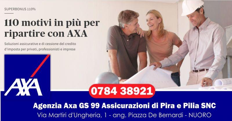 Agenzia Axa GS 99 Assicurazioni di Pira e Pilia - offerta agevolazioni fiscali superbonus 110