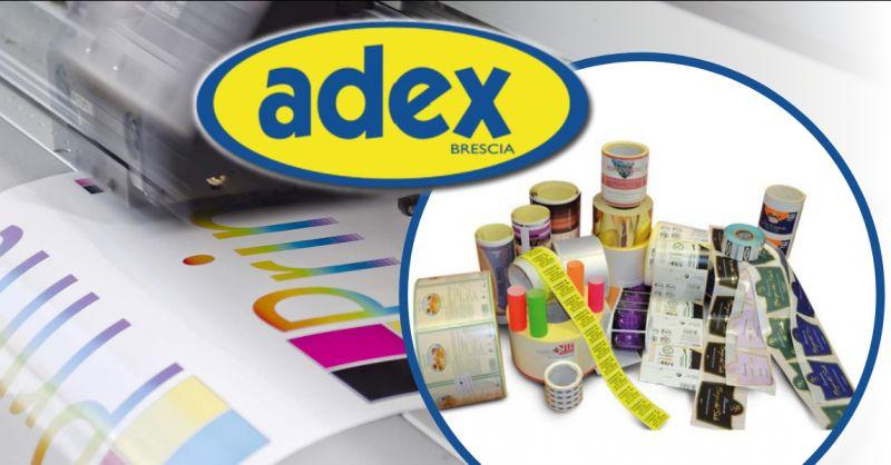 ADEX - Offerta produzione etichette adesive consegna rapida Brescia