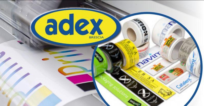 ADEX - Offerta nastri adesivi con stampa indelebile alta definizione Brescia