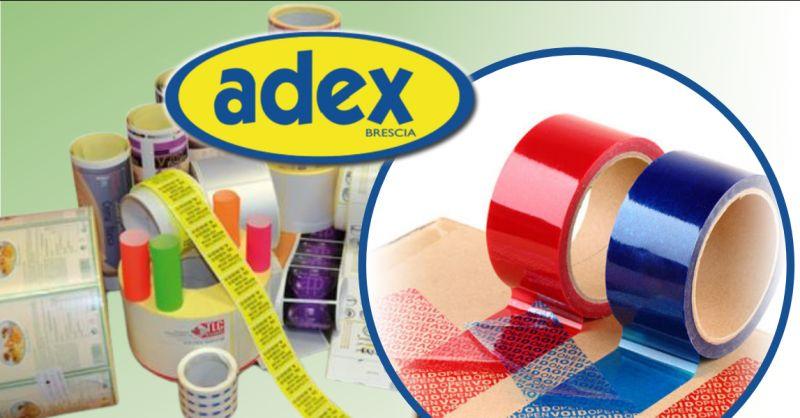 ADEX Offerta nastri adesivi antieffrazione Brescia - occasione etichette adesive antieffrazione