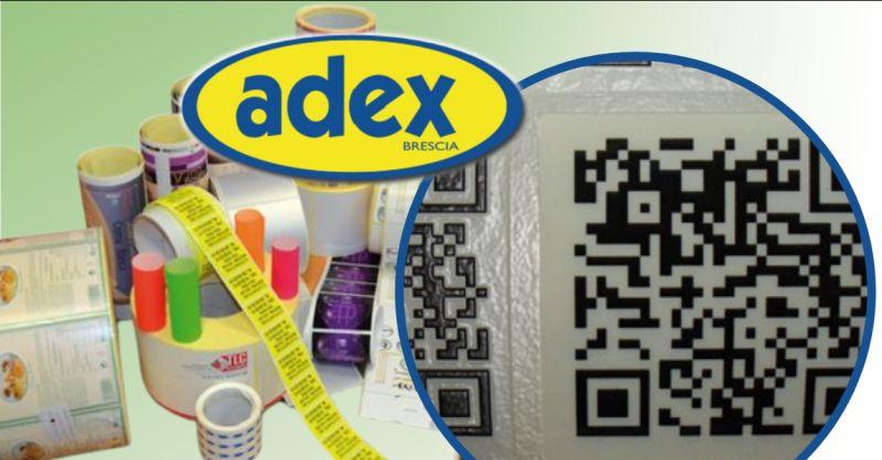 ADEX Offerta etichette adesive stampate in digitale Brescia - occasione etichette piccoli lotti