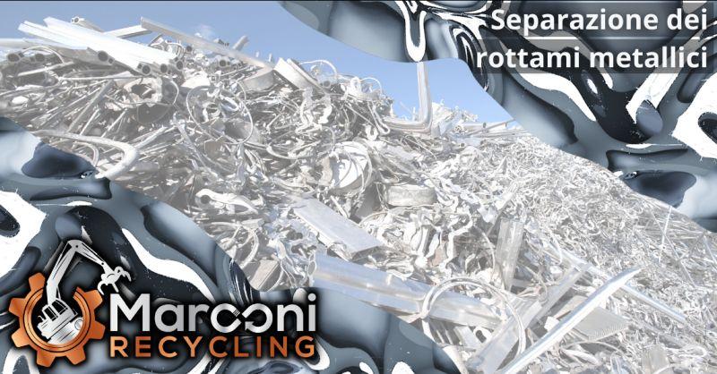 MARCONI RECYCLING - Offerta separazione dei rottami metallici recuperati Brescia