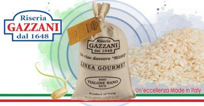 riseria gazzani offerta vendita online riso vialone nano linea gourmet in sacco di tela